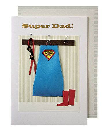 Look What I Found On Zulily Super Dad Costume Birthday Card