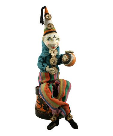 Another great find on #zulily! Clown Figurine #zulilyfinds FALL - lowes halloween