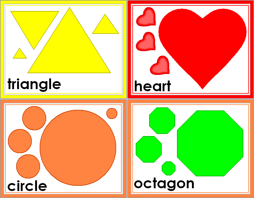 free shapes | FREE Printable Shape Flashcards - great for kids ...