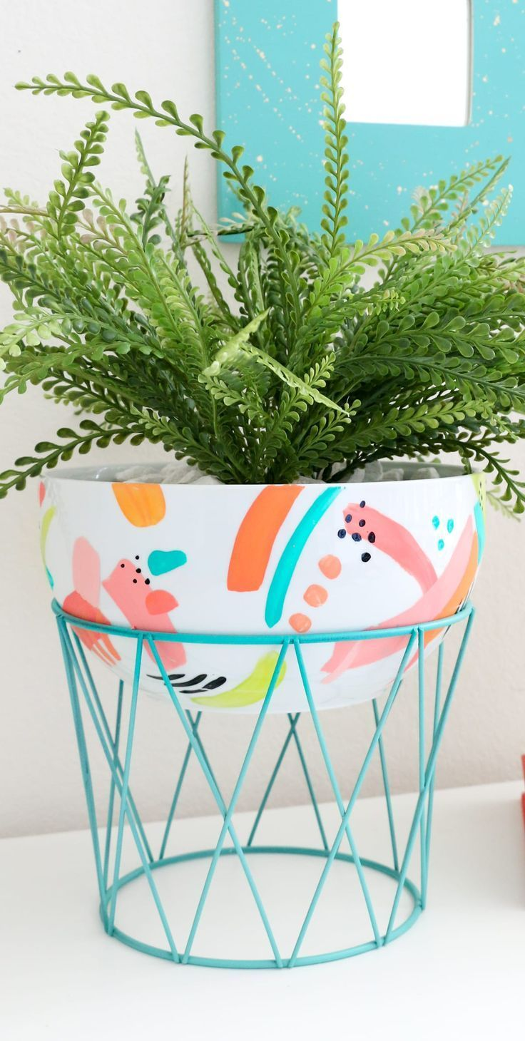 DIY Modern Bowl Planter » Lovely Indeed