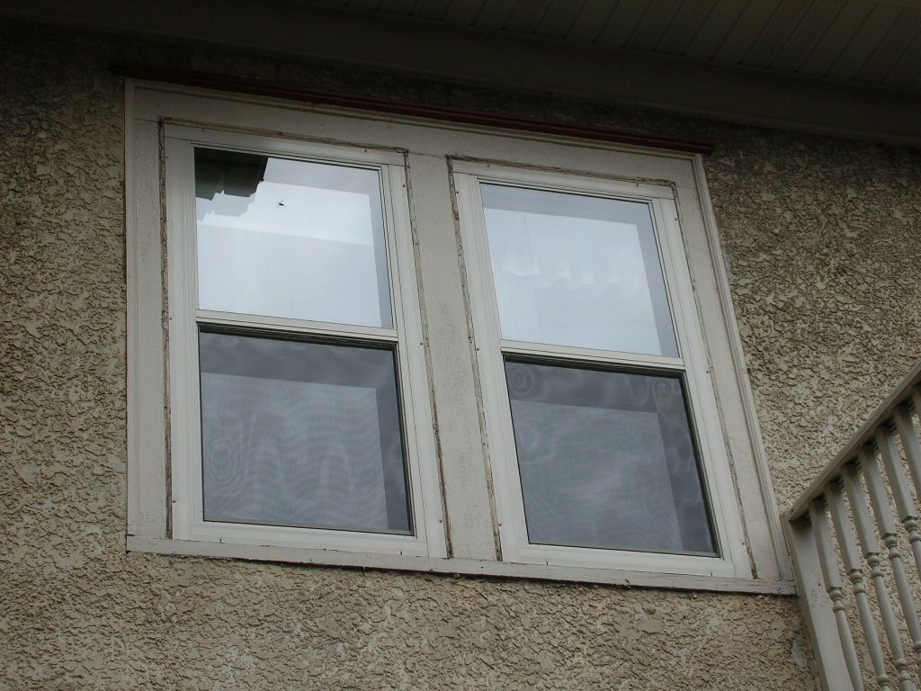 Larson Flush Mount Double Hung Storm Windows Sandstone