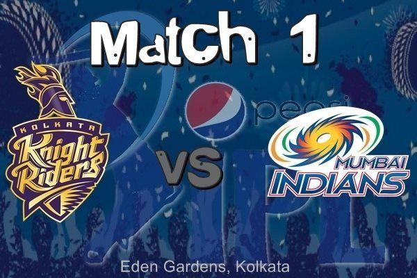 IPL 8 Mumbai Indians vs Kolkata Knight Riders 2015 Match 1