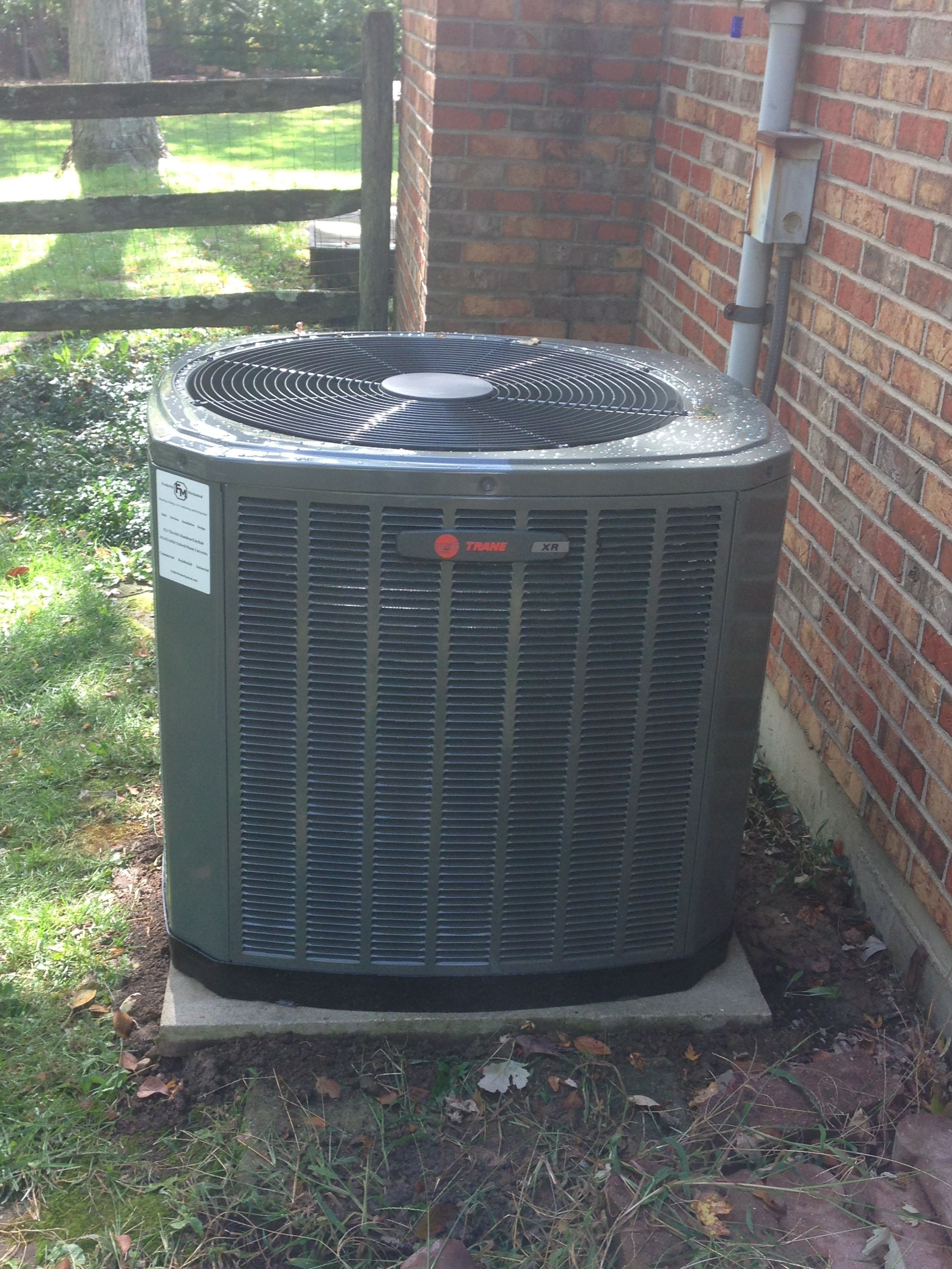 Trane Xr 15 heat pump. Installed in Oxford oh 45056