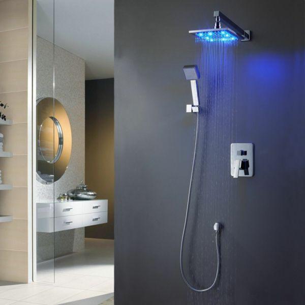 led duschkopf duscharmaturen armaturen bad badezimmerarmaturen