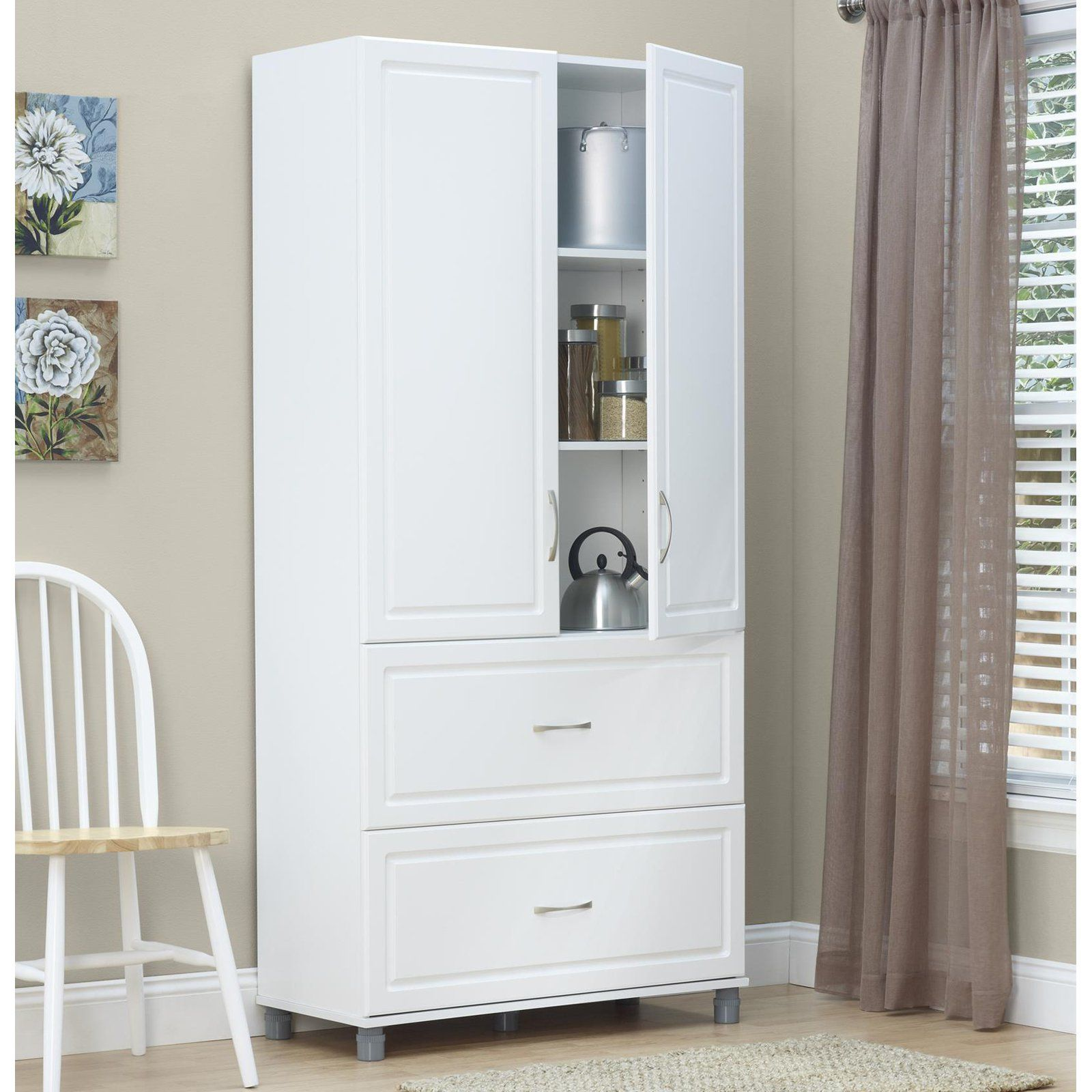 System Build 2 Door Utility Pantry Storage Cabinet Pantry
