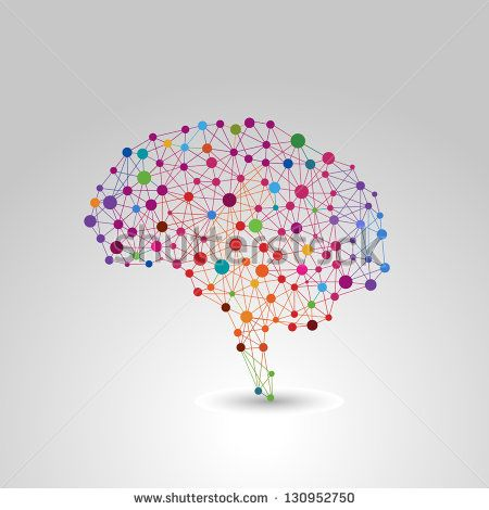 Creative Concept Of The Human Brain Vector Illustration