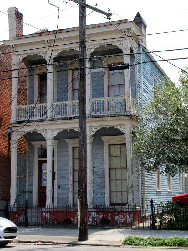Victorian Balcony With Wood Railing, Wooden Porch Siding