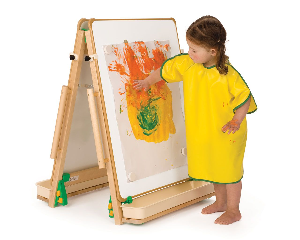 Toddler art! Mini floor easel from Community Playthings ... on Easel Decorating Ideas  id=92239