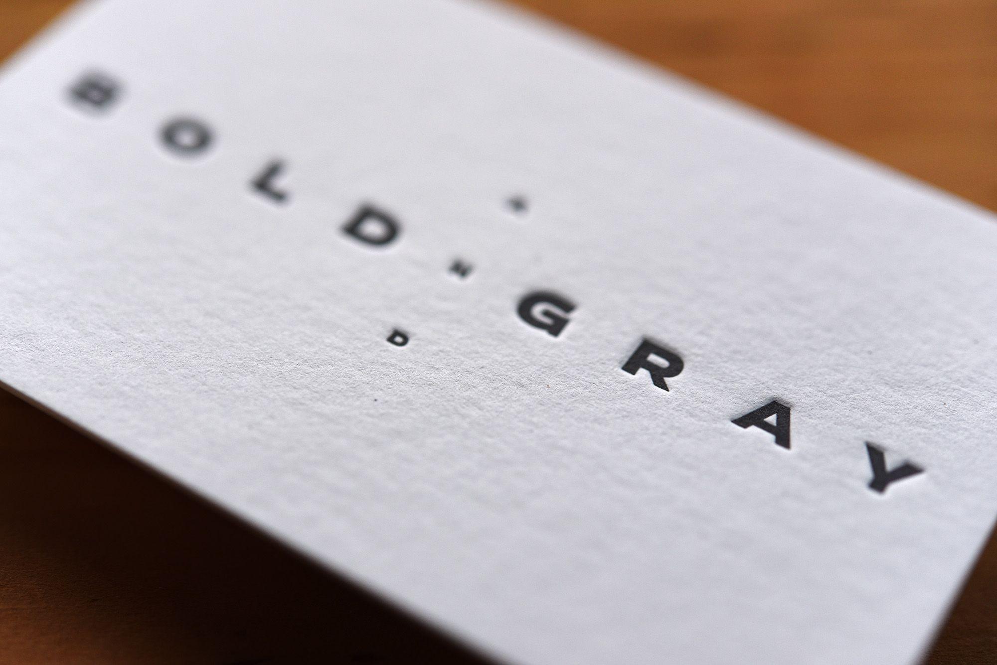 Letterpress Visitenkarten Für Www Boldandgray De Gedruckt