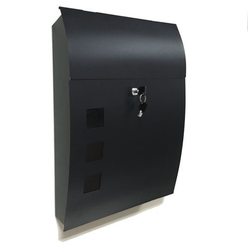 This Premium Wall Mounted Mailbox Matches To Various Kinds Of Home Design The Mailbox Is Constructed With Galva Mounted Mailbox Wall Mount Mailbox Black Walls