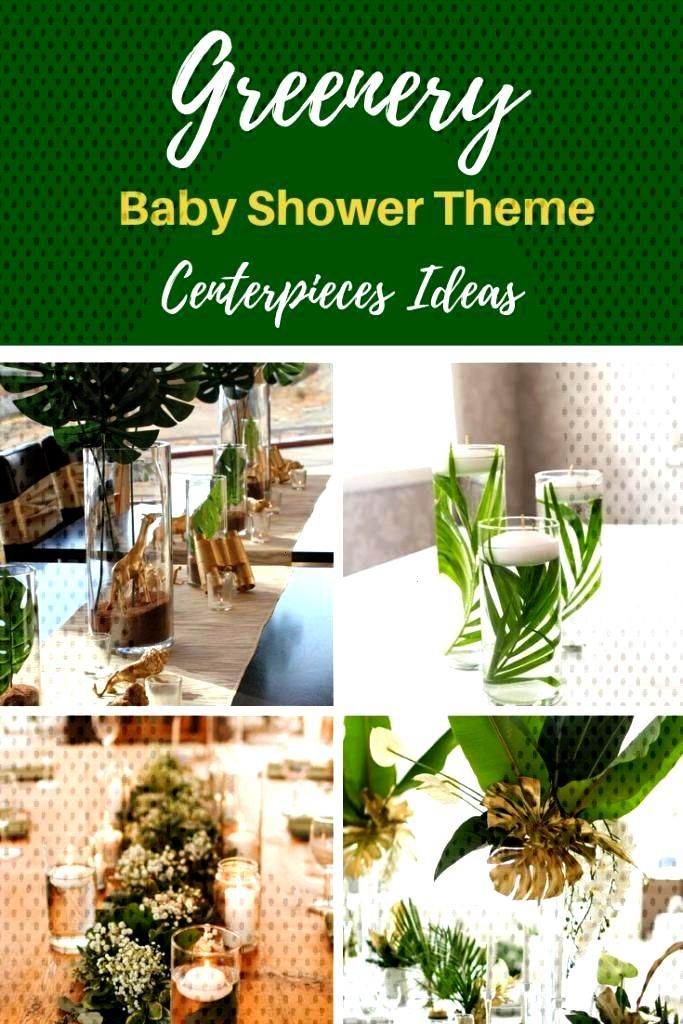 Greenery Baby Shower Centerpieces For A Gender Neutral Baby Shower - VCDiy Decor And More -