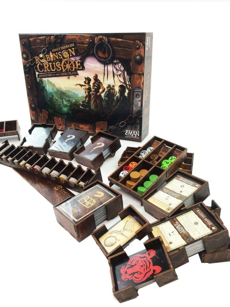 Robinson Crusoe Game Insert Custom board games, Game