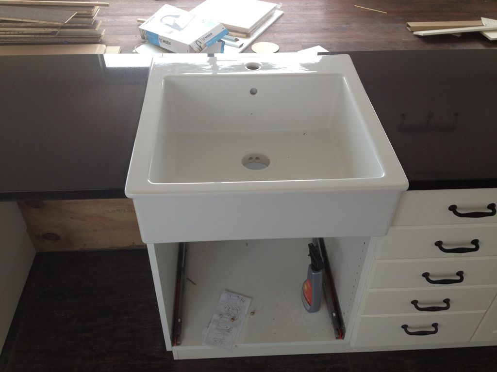 Domsjo sink install kitchen pinterest sinks beach Farmhouse sink ikea