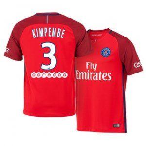 16-17 Cheap PSG Red Away #3 Kimpembe Replica Football Shirt [H00794]
