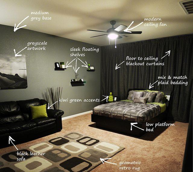 Modern Bachelor S Bedroom Callout Bachelor Bedroom Bachelor Room Bachelor Pad Bedroom