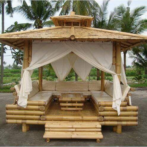 Pin de mark trujillo yabar en caba a de parrilla fundo pinterest bambus holzm bel y garten - Bambus gartenhaus ...