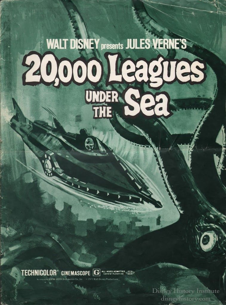 This Pressbook Cover Is For The Re Release Of 20 000 Leagues Under The Sea Which Was Set To Come Out Just Prio Leagues Under The Sea Under The Sea Jules Verne