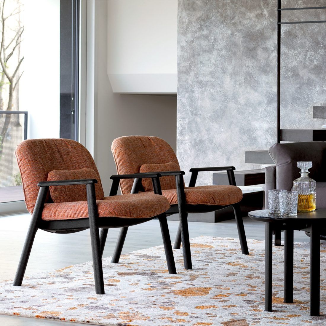 Calligaris Baltimora Armchair And Cementino Rug Th Contemporary Designers Furniture Da Vinci Lifestyle Contemporary Furniture Design Furniture Design Furniture