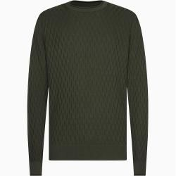 Calvin Klein Strukturierter Pullover aus Baumwollmischung L Calvin Klein
