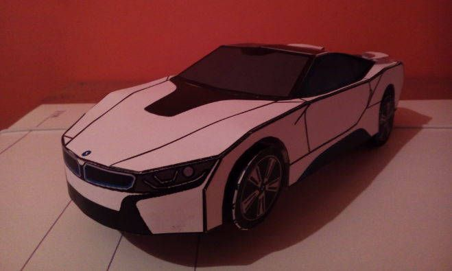 Simple BMW I8 Paper Car Free Model Download
