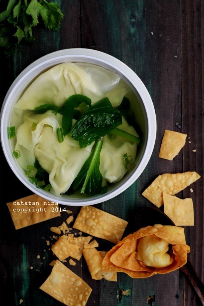 Catatan Nina Wonton Soup Pangsit Rebus Resep Masakan Memasak Makanan Dan Minuman