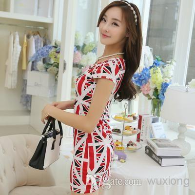 Best Summer 2014 Hot New Women\'s Tee Union Jack Dress Online with ...