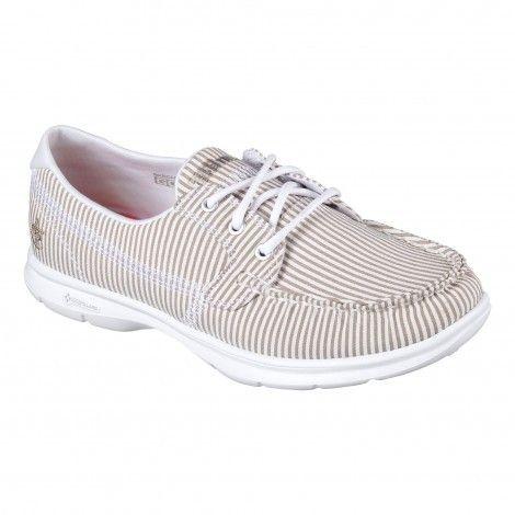 Femmes Chaussures De Loisirs En Blanc - Skechers FErnWnc