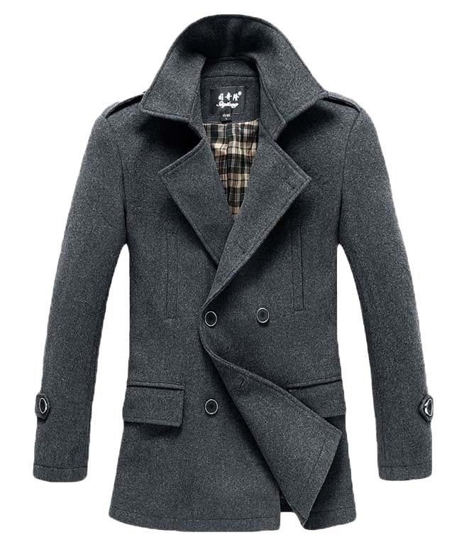 Winter Men's Fashion: The Foster Wool Peacoat Grey! | L&C | Men's ...