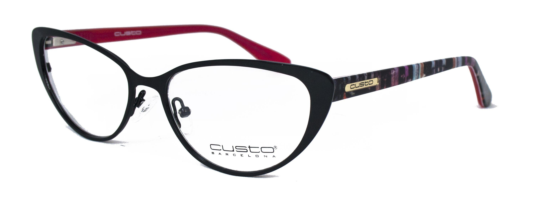 Gafas diseñadas por Custo Barcelona para Opticalia. Montura metálica ...