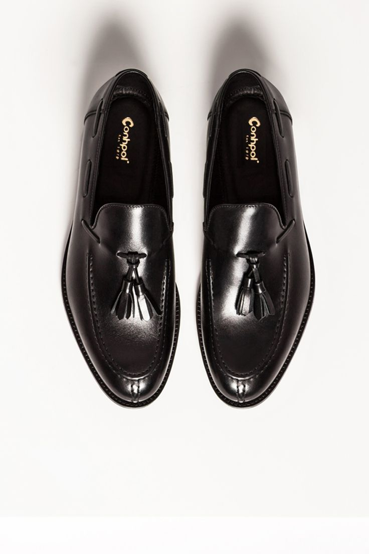 Polbuty Meskie Skorzane Czarne Lorenzo Ce4868 01 Loafers Fashion Shoes
