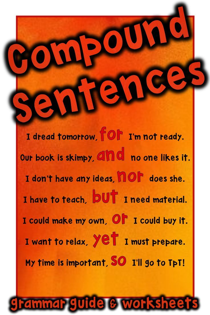 Compound Sentences -FANBOYS- coordinating conjunctions: Grammar Guide