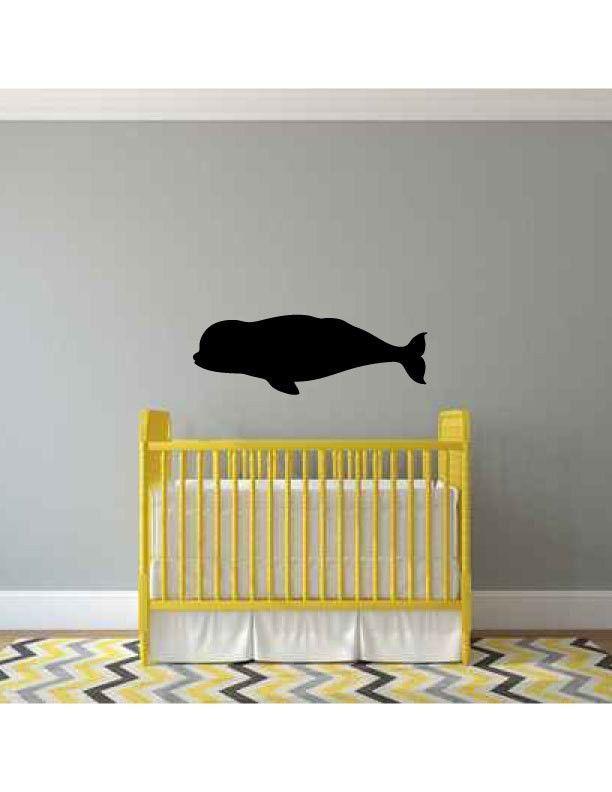 Beluga Whale Silhouette Vinyl Wall Decal Sticker Silhouette - How to make vinyl wall decals with silhouette