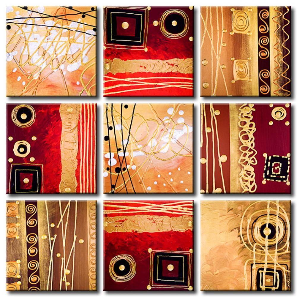 Foto en lienzo p rpura y oro ser una gran decoraci n de for Cuadros originales decoracion