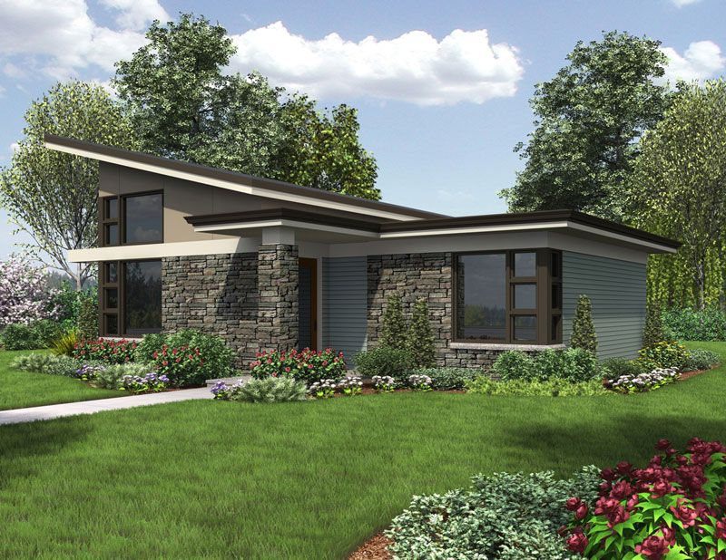 This brand new contemporary design has it all for someone for Brand new house plans
