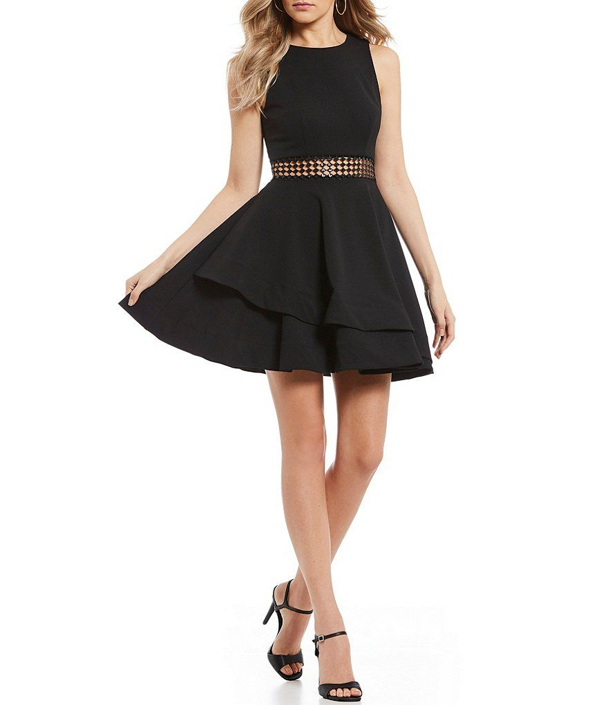 d002a1b6ce842 B. Darlin Illusion Waist Double Hem Fit-and-Flare Dress   Audition ...