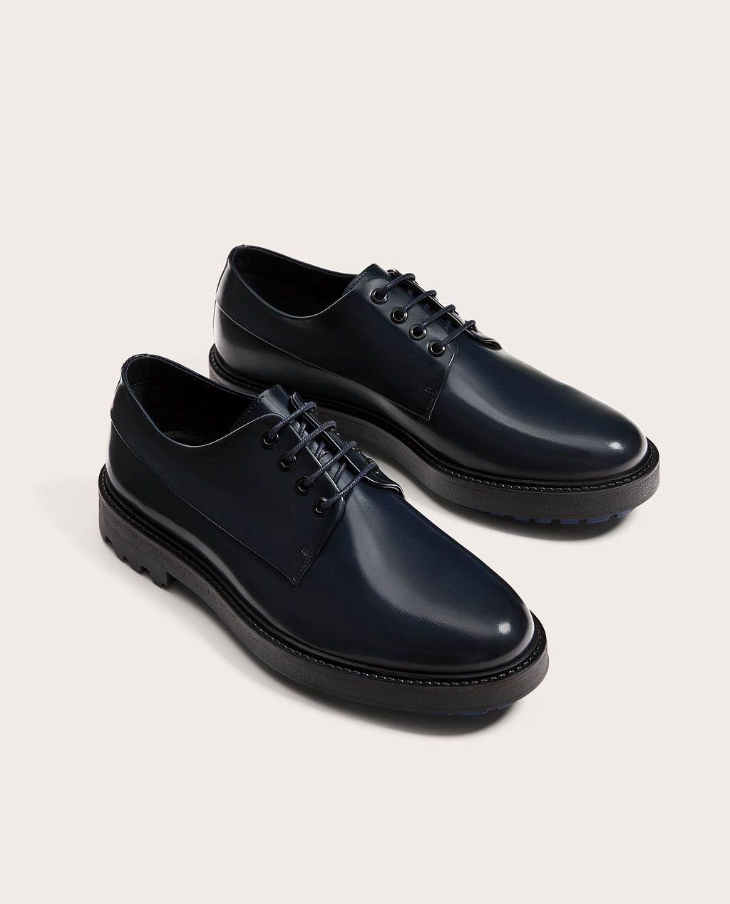 Hommes Chaussures En Cuir - Chaussures Lacets Homme Bleu Peau Autre Bleu, Bleu, Taille 40 Eu