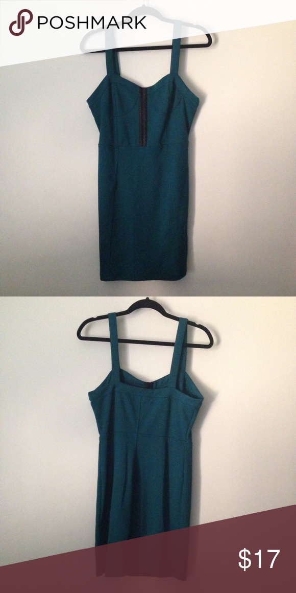 Forever 21 contemporary bodycon dress This is great for a formal night out, or just a very formal event! The color is teal. Forever 21 Dresses Mini