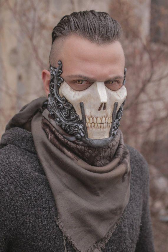 THE RAIDER Resin Skull Half-Face Mask by IvanKingArtShop ...