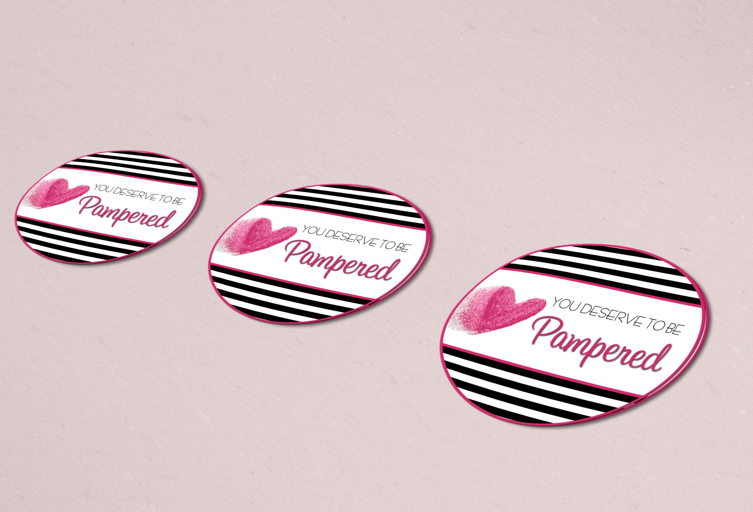 You Deserve to be Pampered Sticker