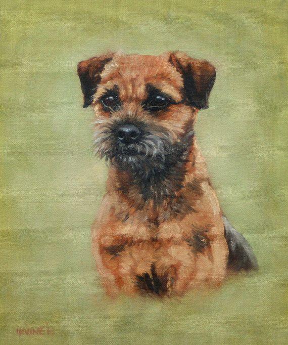 Beautiful Border Terrier Dog Le Fine Art Print From An Original