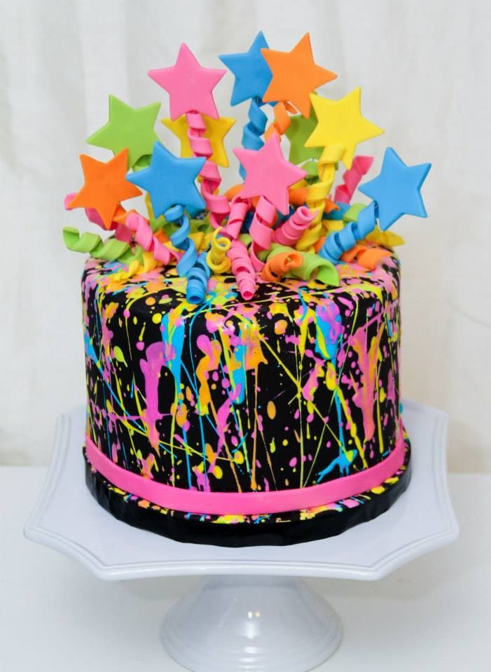 Image Result For Neon Birthday Cake Ideas Neon Cakes Neon