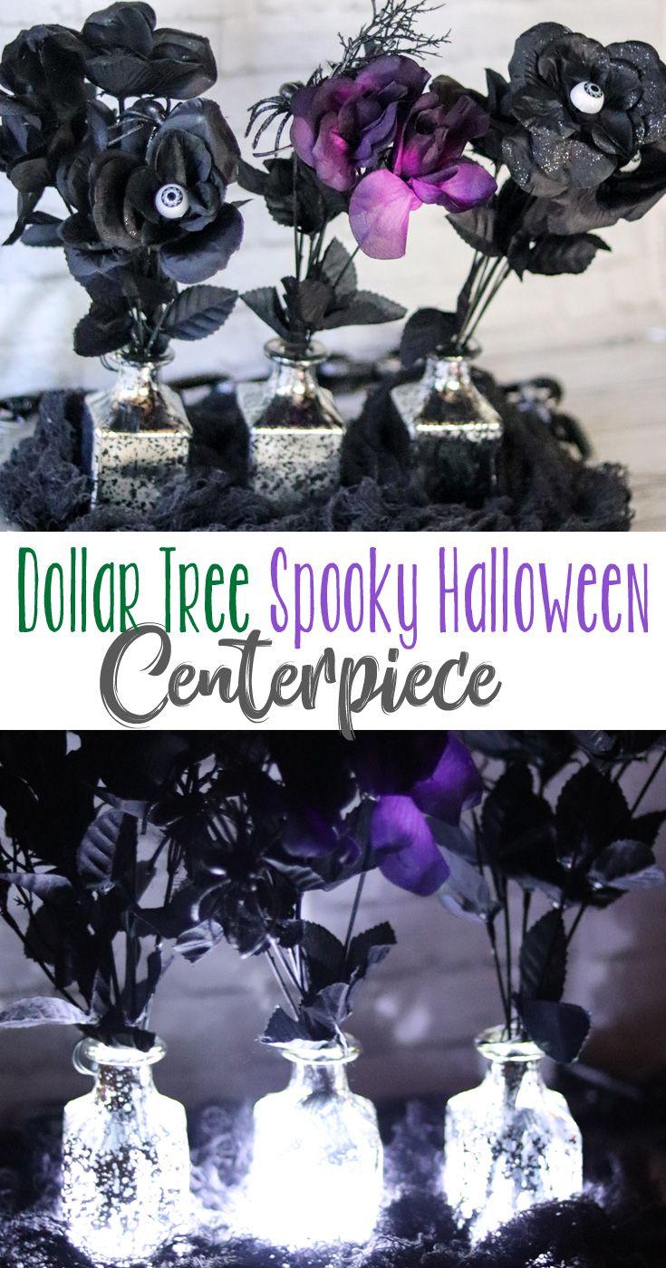 DIY Dollar Tree Spooky Halloween Centerpiece #dollartreecrafts
