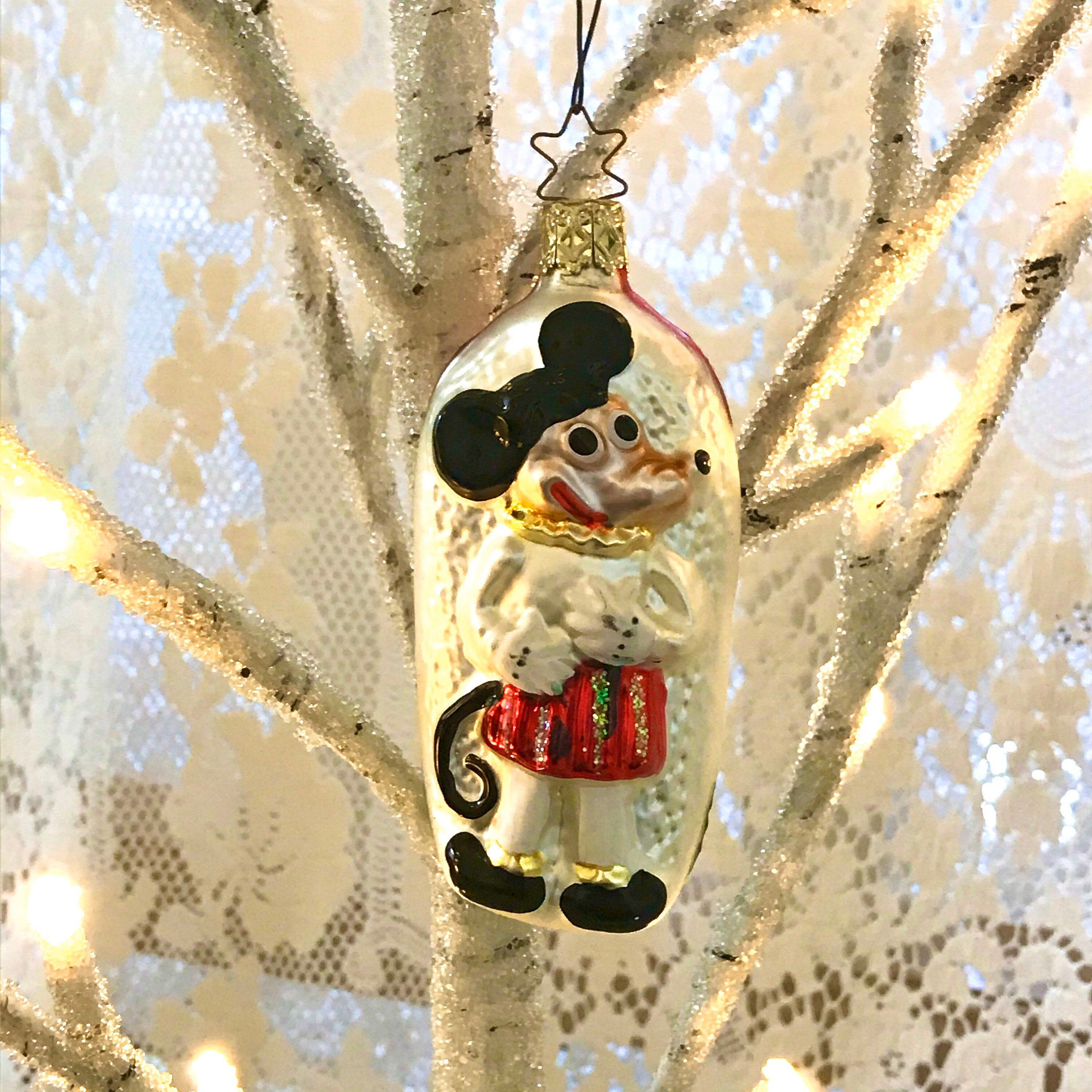 Old World Christmas Church Mouse Retired Blown Glass Ornament #churchitems