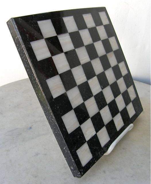 Marble Chess Board Love Just Have To Find Suitable Pieces Black And White Marble Chess Board Marble Board