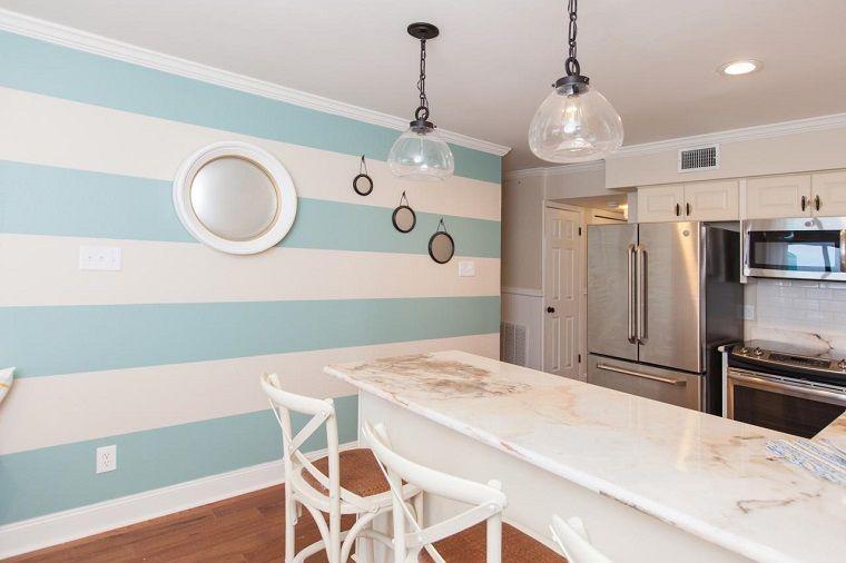 decoracion-de-paredes-rayas-blancas-azul-cocina.jpeg (760×506 ...