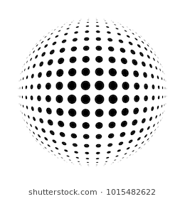 White 3d Halftone Sphere Dotted Spherical Background Logo Template For Your Design Circle Dots Isolated On The White B Halftone Stock Illustration Illustration