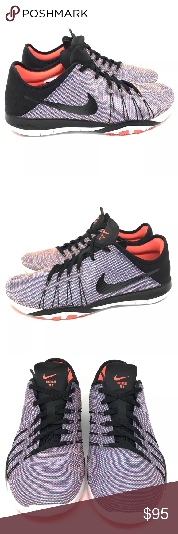 check out ad49d 4f1fc Nike Free TR 6 print womens running shoes Nike Free TR 6 print womens  running shoes black purple Style  833424-006 Women s size 8.5 Brand new  without box ...