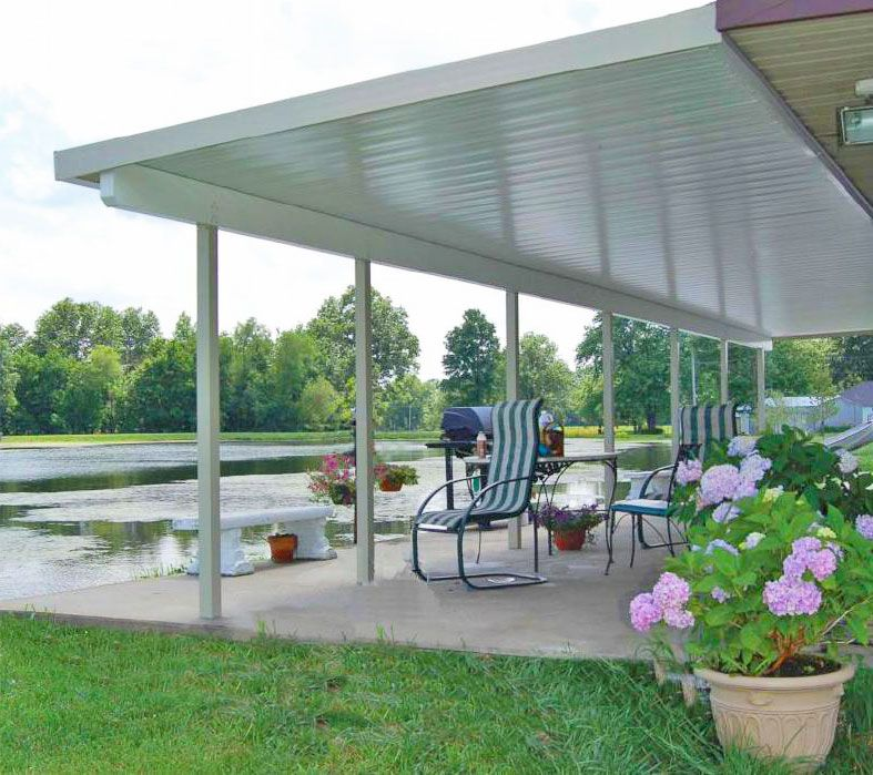 Teton Patio Cover With Flat Roof Panels Outdoor Pergola Pergola Patio Pergola
