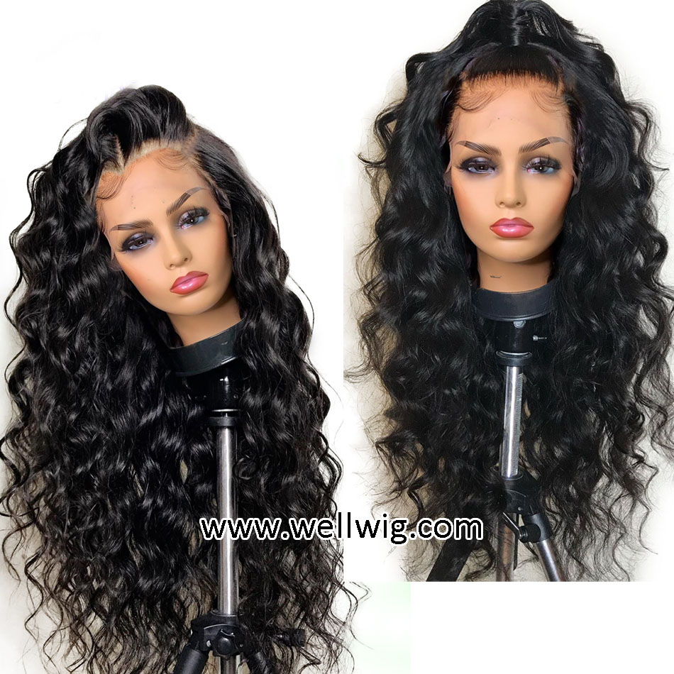 11x11 Lace Front Human Hair Wigs PrePlucked Glueless Remy Loose