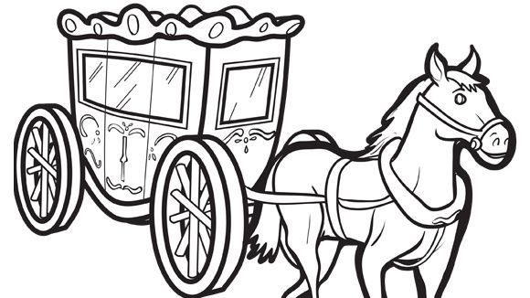 Horse And Carriage Coloring Page Free Princess Coloring Pages For Children